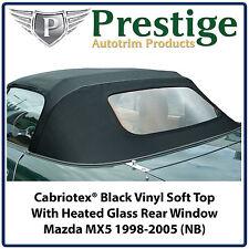 Mazda MX5 MX-5 Mk2 (NB) Glass Window Vinyl Soft Top 1998-2005