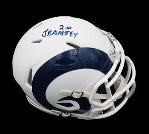 Jalen Ramsey Signed Los Angeles Rams Speed White Matte NFL Mini Helmet