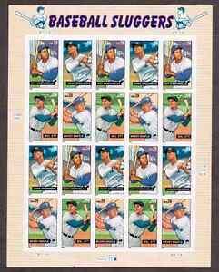 Scott #4080/3...39 Cent...Baseball Sluggers...Pane of 20 Stamps