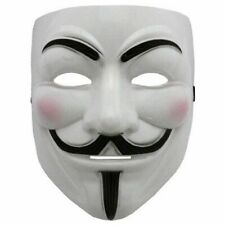 V For Vendetta Eyeliner GUY FAWKES  Adult Party Costume Halloween Mask Anon