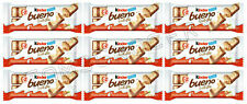 Kinder Bueno White Chocolate Covered Cream Filled Wafers 39g, Pack of 9