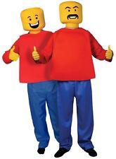 Medium Childs Novelty Lego Mr Blockhead Man Morphsuit Fancy Dress Costume