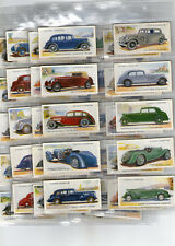 cigarette cards motor cars 2nd series full set 1937
