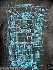 Voltron Japanese Lettering Diagram Robot Cartoon Shirt (Size M) Licensed