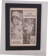 GEORGE MICHAEL*WHAM*Last Christmas*ORIGINAL*A4*ADVERT*FRAMED*FAST WORLD SHIP
