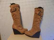 Womens / Junior GoJane wedge Boots ~ brown ~ size 8.5