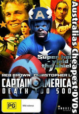 Captain America 2 Death Too Soon DVD NEW, FREE POSTAGE WITHIN AUSTRALIA REGION 4