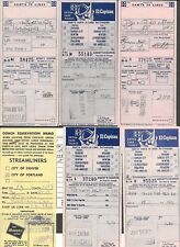 1960s Lot of 6 tickets RR L A TO SAN FRAN Chic to Pomona KC to L.A and more