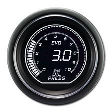EVO Series Oil Pressure Gauge BAR White Green Backlit Included Electronic Sensor