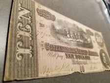 $10 1864 Confederate States of America Feb 17th 1864