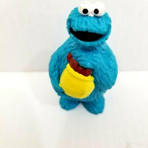 Vintage Cookie Monster cookie jar PVC Figure Sesame Street Applause