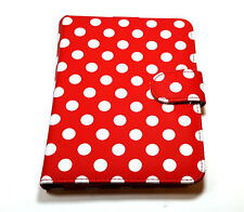 "Kindle Case Folio for Paperwhite and 6"" Devices Red White Dot"