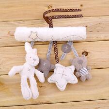 Kid Baby Crib Cot Pram Hanging Rabbit Bear Rattle Bed Stroller Bell Plush Toy US