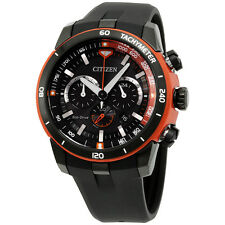 Citizen Black Dial Black Silicone Strap Men's Watch CA415407E