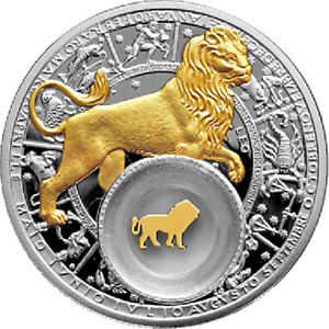 Leo Proof Silver Coin 20 rubles Belarus 2013