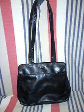 Vintage Emmy Black Leather Shoulder Bag