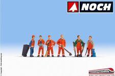 NOCH 15029 - H0 1:87 - Confezione set 6 personaggi netturbini operai nettezza ur