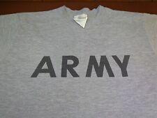 Army Physical Fitness Uniform T Shirt Medium  Gray  Official Army T Shirt    F38