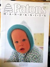 Patons knitting pattern no. 1021  Feather soft TOTS sizes 3 months --18 months