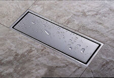 Stainless Steel Linear Shower Drains High Flow Quick Floor Drain Grates 300mm