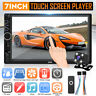 7'' 2DIN bluetooth Autoradio Stereo DVD Player FM USB Touch Screen Telecamera