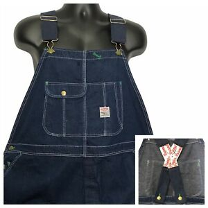Vtg Pointer Brand Low-back Overalls 48 x 30 Carpenter Button Fly USA Hipster