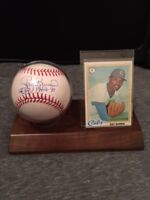 Ray Burris Autographed Signed Baseball -OMLB- Cubs Yankees Mets Cardinals A's