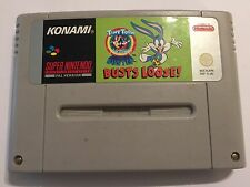 PAL SUPER NINTENDO ENTERTAINMENT SNES Juego TINY TOON BUSTER SYSTEM Bustos Loose!