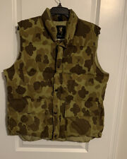 BROWNING Goose Down VEST Coat Puffer Size Medium Duck Camo Vintage USA Made