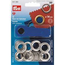 Prym ojales y discos, 14,0mm, color plata 541383