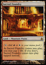 MTG SACRED FOUNDRY POOR+/ROVINATA - FONDERIA SACRA - RAV - MAGIC