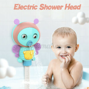 Electric Bee Water Pump  Cute Faucet Baby Bath Shower Head Spout Rinser Kids Toy