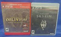 Elder Scrolls 4 5 IV + V Skyrim Oblivion - Game Lot PS3 Sony Playstation 3 Works