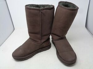 UGG Australia Womens Classic Tall 8515 Boots CHOCOLATE Leather Suede Sz W7