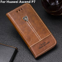 For Huawei Ascend P7 Phone Case Leather Flip Wallet Stand Holder Back Cover 5''