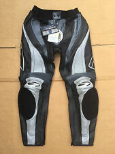 """RICHA Ladies Race Leather Motorcycle Trousers UK 16 to 18  34"""" to 36"""" waist T42"""