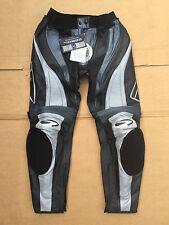 "RICHA Ladies Race Leather Motorcycle Trousers UK 16 -18 (34""-36"" waist) #T42"