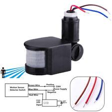 LED Outdoor 110-220V Infrared PIR Motion Sensor Detector Wall Light Switch 140°