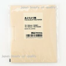 "Made in JAPAN MUJI Oil Blotting Paper 100 pieces ""70mm x 100mm"""
