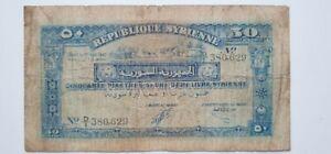Banque Syria and Lebanon 1/2 Lira 1942 F