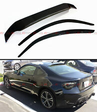 FOR 2013-17 SCION FR-S FRS JDM SMOKE TINTED REAR ROOF+ DOOR WINDOW VISOR COMBO