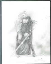Swordwoman by Luis Royo New Hand Signed Limited Edition Print.