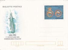 Italy Biglietto Postale 1990 Centenario Dei Sommergibili Italiani Unused VGC