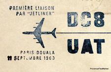 1960 DC8 UAT PARIS DOUALA CAMEROUN    Airmail Aviation premier vol AC13