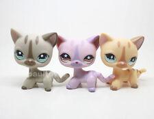 3pcs Littlest Pet Shop Short Hair Cat Kitty LPS Toy #886 #933 #468