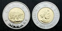 Canada 1996 - 2006  Double Date Proof Like Gem Toonie!!