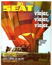 Seat Magazine No155 July-August 1980 Spanish Market Brochure Ritmo Lancia Beta