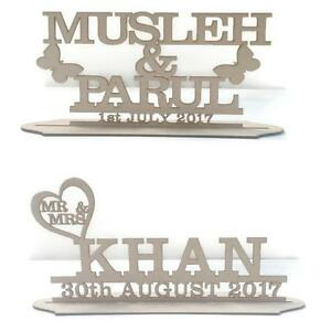 MDF Wooden Personalised Wedding / Name Stand, Various Sizes And Variations