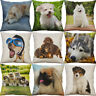 Printing Animal Pillow Case Cotton Linen Cushion Cover Sofa Home Decor For Dog