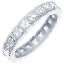 Asscher Forma Eternidad 4.00 Quilate 18CT Anillo Diamante Oro Diámetro